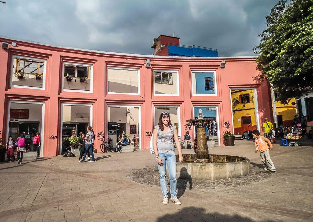 Ich im Zentrum von Bogota