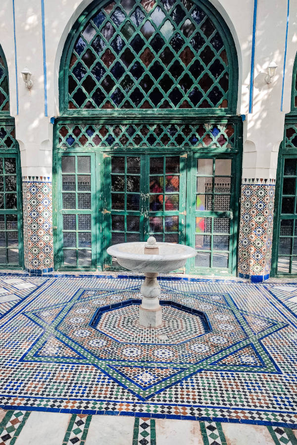 Ein Brunnen in Marrakesch, ich liebe einfach die schönen Farben in Marroko